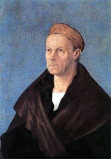 Albrecht Dürer (1471-1528): Jakob Fugger le Riche. Vers 1520. Munich, Bayerische Staatsgemäldesammlungen