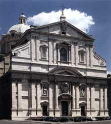Vignole et Della Porta: façade de l'église du Gesù, 1568