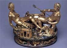 Benvenuto Cellini: Salière pour FrançoisI. 1540-1444. Or, émail et ivoire. 26 x 33,5cm. Vienne, Kunsthistorisches Museum