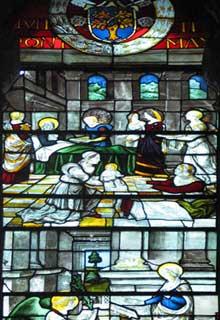 Guillaume de Marcillat: verrières de Santa Maria del Popolo, Rome