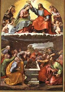 Jules Romain: La madone Monteluce. Huile sur toile. Pinacothèque du Vatican