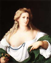 Palmavecchio: femme blonde. Huile sur toile, 77,5 x 64,1 cm. Londres, National Gallery