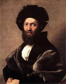 Raphaël: Baldassare Castiglione. 1514-1515. Huile sur toile. 82x67cm. Paris, Musée du Louvre