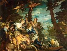 Véronèse: l'enlèvement d'Europe. 1580, huile sur toile, 240 x 303cm. Venise, Palais Ducal, Salle de l'Anticollège