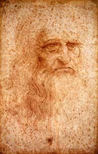 Léonard de Vinci (1452-1519): autoportrait; 1512, 33,3 x 21,3cm. Turin Biblioteca Reale