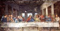 Léonard de Vinci (1452-1519): la Cène. 1498. Technique mixte. 460 x 880cm. Milan, réfectoire du couvent Santa Maria delle Grazie