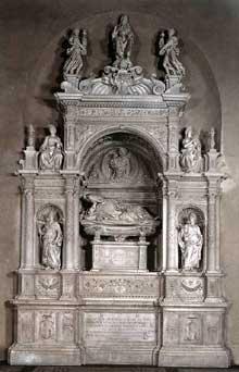 Andrea Contucci dit Sansovino: monument funéraire d'Ascanio Sforza 1505-1507. Marbre Santa Maria del Popolo, Rome