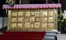 Sant'Ambrogio de Milan: le paliotto de l'autel par Volvinius, vue générale. Art carolingien. IXè