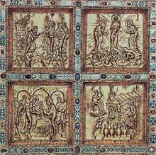 Sant'Ambrogio de Milan: le paliotto de l'autel par Volvinius, détail. Art carolingien. IXè