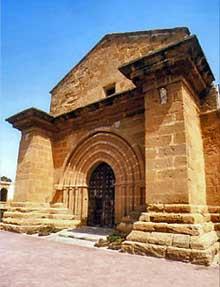 Agrigente en Sicile: l'église saint Nicolas. La façade