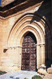 Agrigente en Sicile: l'église saint Nicolas. Le portail