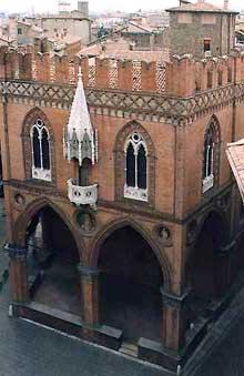 Bologne: la «Loggia dei Marcanti»
