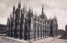 Milan: le «Dôme». Vue générale