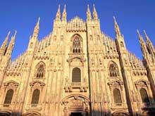 Milan: le «Dôme». La façade