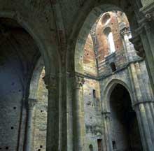 San Galgano en Toscane: la croisée