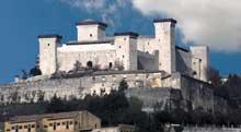 Spolète: le château de la Rocca