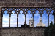 Viterbe: loggia du palais des papes