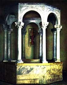 Cividale del Friuli: le baptistère saint Calliste. VIIIè. Musée de l'église saint Martin