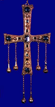 Trésor d'Agilulf, roi de Lombardie (590-616): la croix. Trésor de Monza