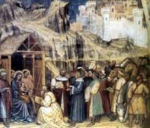 Altichiero da Zevio: l'adoration des Mages. 1380s. Fresque. Oratoire saint Georges, Padoue