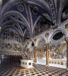Altichiero da Zevio: vue de la chapelle saint Jacques. Vers 1370. Fresque.