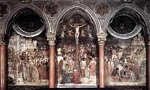 Altichiero da Zevio: Crucifixion. 1376-1379. Fresque, 840 x 280 cm. Padoue, chapelle saint Jacques de la basilique saint Antoine