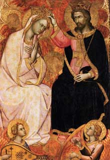 Andrea di Bartolo: Couronnement de la Vierge. Vers 1405-1407. Panneau de bois, 106 x 74 cm. Venise, Galleria Franchetti, Ca' d'Oro