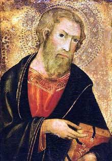 Andrea di Bartolo: saint Paul. Huile sur panneau de bois, 29 x 20 cm. Collection privée