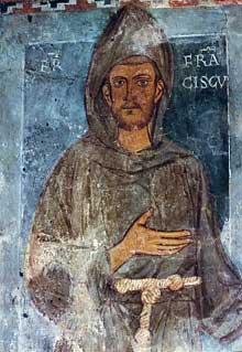 François d'Assise. Grotte du Sacro Speco de Subiaco