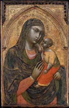 Barnaba da Modena: Vierge et enfant. Vers 1360 Tempera sur panneau, 100,3 x 62,8 cm. Boston, Museum of Fine Arts