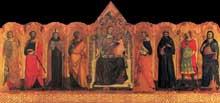 Giovanni Baronzio: Polyptyque. Vers 1345. Tempera sur bois. Museo de Mercatello sul Metaur