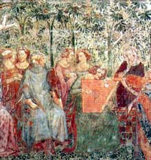 Buonamico Buffalmacco: Le triomphe de la mort (détail). Vers 1350. Fresque. Pise, Campo Santo