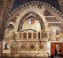 Capanna Puccio: La galerie des chantres. 1337-1338. Fresque. Assise, église inférieure Saint François
