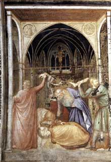 Capanna Puccio: Le martyr de Saint Stanislas. Vers 1338. Fresque. Assise, église inférieure Saint François
