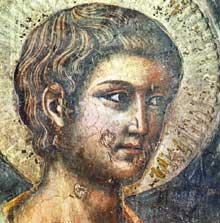 Pietro Cavallini: Le Jugement dernier, détail. 1293. Fresque. Rome, Sainte Cécile in Trastevere