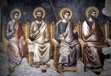 Pietro Cavallini: le Jugement dernier, détail: les apôtres. 1293. Fresque; Rome, Sainte Cécile in Trastevere