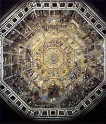 Coppo di Marcovaldo: Mosaïque de la voûte. Florence, Baptistère
