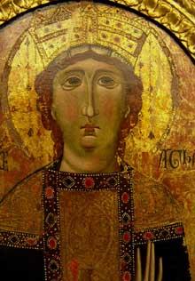Coppo di Marcovaldo: Tableau processionnel de sainte Agathe. Vers 1240-1260. Tempera sur bois. Florence, Museo dell'Opera del Duomo