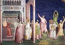 Bernardo Daddi: Le martyr de saint Etienne. 1324. Fresque. Florence, Santa Croce