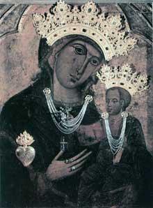 Dietisalvi de Speme: Madone del Voto. Après 1261. Tempera sur panneau de bois. Sienne, Musée de l'œuvre du Dôme