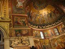 mosaïques de l'abside de Sainte Marie du Transtevere, fin XIIIè