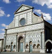 Florence: la façade de Santa Maria Novella
