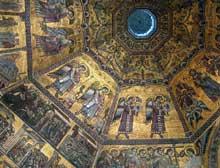 Florence: les mosaïques du Baptistère saint Jean. Vers 12501270