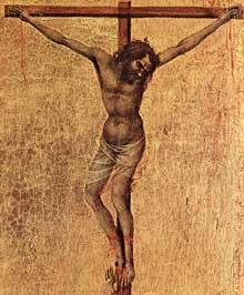 Duccio: Maestà: la crucifixion, détail. 1308-1311. Tempera sur bois. Sienne, musée de l'Œuvre du Dôme