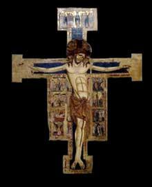 Enrico Di Tedice: croix et Christ crucifié. 1250. Tempera sur bois, 267 x 210 cm. Pise, museo nazionale di San Matteo