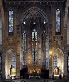 Gaddi Agnolo: Florence, Santa Croce: vue intérieure sur le choeur