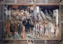 Gaddi Agnolo: Le triomphe de la croix. 1380s. Fresque. Florence, Santa Croce