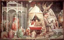 Gaddi Agnolo: Le triomphe de la croix, détail. 1380s. Fresque. Florence, Santa Croce
