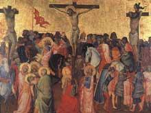 Gaddi Agnolo: Crucifixion. 1390-1396. Tempera sur bois, 57,5 x 77 cm. Florence, les Offices