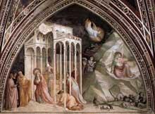 Taddeo Gaddi: Vie de la Vierge, détail. 1328-1330. Fresque. Florence, Santa Croce, Chapelle Baroncelli